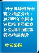男子排球競賽表現之標記分析 : 以2005年全國中等學校甲級聯賽及亞洲四強挑戰賽為析論對象