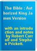 The Bible : Authorized King James Version