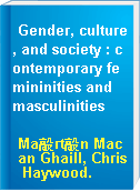 Gender, culture, and society : contemporary femininities and masculinities