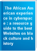 The African American experience in cyberspace : a resource guide to the best Websites on black culture and history