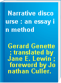 Narrative discourse : an essay in method