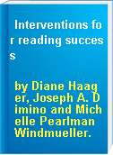 Interventions for reading success