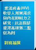 愛滋病毒(HIV)收容人用藥渴求與內在抑制力之研究 : 以法務部臺灣高雄第二監獄為例