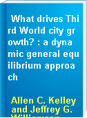 What drives Third World city growth? : a dynamic general equilibrium approach