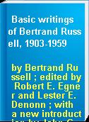 Basic writings of Bertrand Russell, 1903-1959