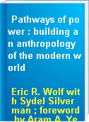 Pathways of power : building an anthropology of the modern world