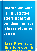 More than words : illustrated letters from the Smithsonian