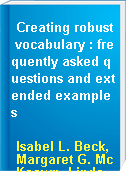 Creating robust vocabulary : frequently asked questions and extended examples
