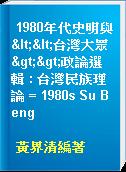 1980年代史明與<<台灣大眾>>政論選輯 : 台灣民族理論 = 1980s Su Beng