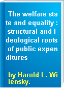 The welfare state and equality : structural and ideological roots of public expenditures