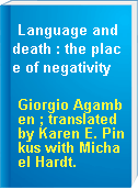 Language and death : the place of negativity