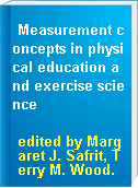 Measurement concepts in physical education and exercise science